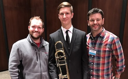 Hillgrove's Tyler Quick performs with All State Jazz Band