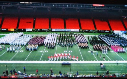 The Hillgrove High School Marching Band make finals at the Bands of America Super Regional 2016