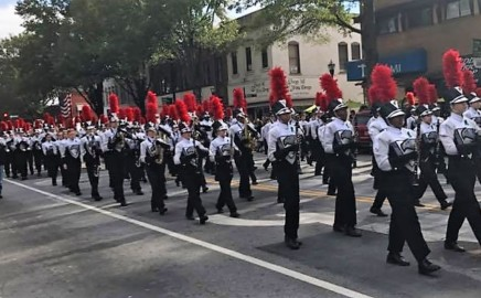 The Hillgrove High School Marching Band honors Veteran's Day